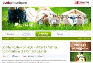 Scelte sostenibili  20   Alberto Mattei  cofondatore di Nomadi Digitali   avoicomunicare