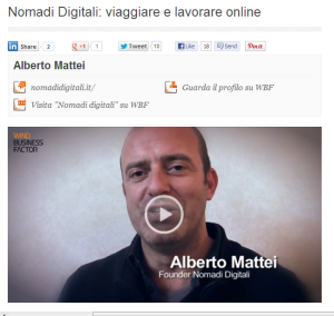 screen Nomadi Digitali  viaggiare e lavorare online   Palestra   Wind Business Factor