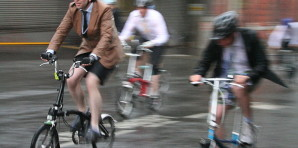Photo Credit: By Paul Mison (originally posted to Flickr as Racers) link: http://commons.wikimedia.org/wiki/File%3AFolding-bicycles-smithfield-london-racers.jpg