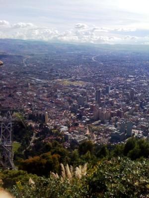 Bogotà vista da Monserrate
