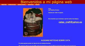 Pagina web di cata's craft