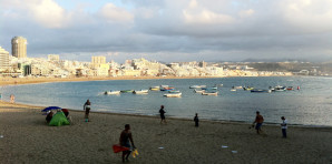 Las Palmas vista da Las Canteras