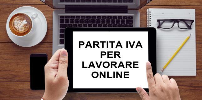 Aprire la Partita Iva per Lavorare Online